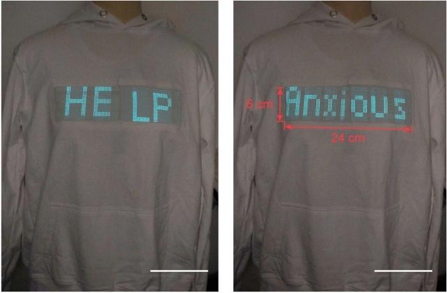 Nowoczesna tkanina pozwala umieszczać napisy na ubraniach (Fot: Grupa Huisheng Peng)