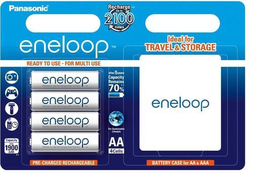 Panasonic 4 x Eneloop R6/AA 2000mAh BK-3MCCE/4T
