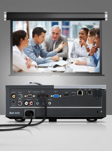 Dell Projektor 4320 DLP WXGA/4300ANSI/2000:1/3YNBD