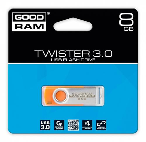 GoodRam TWISTER ORANGE 8GB USB3.0