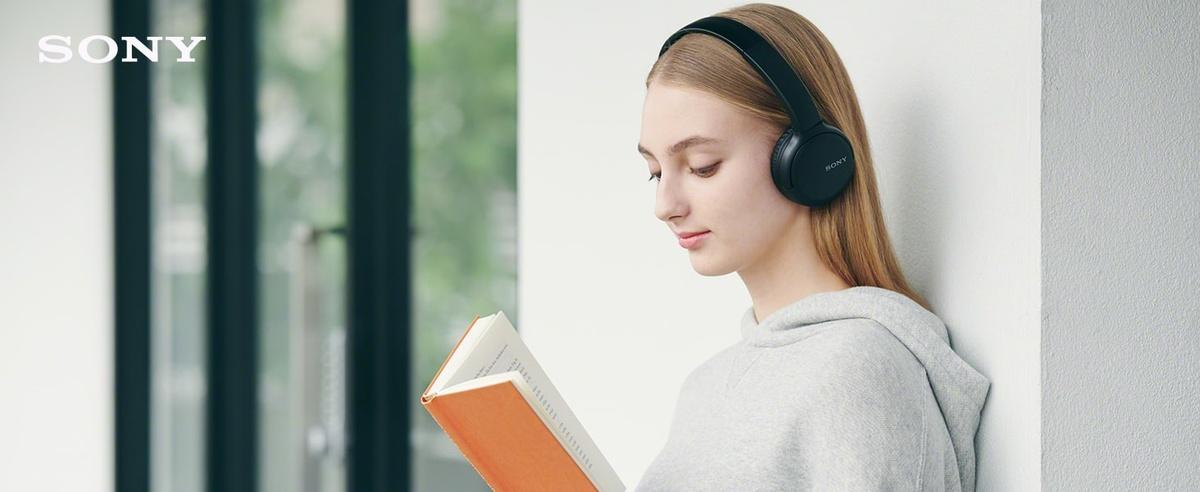 Grafika promująca słuchawki bezprzewodowe Sony WH-CH510