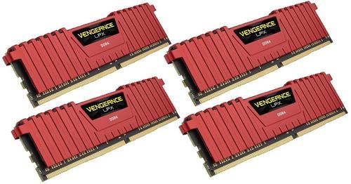 Corsair DDR4 Vengeance LPX 16GB /2400 (4*4GB) RED CL14-16-16-31