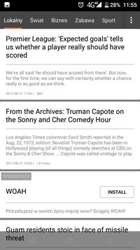 Doogee Mix Wiadomości Screen