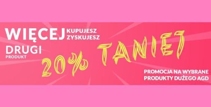 Oszczędź kilkaset złotych na dużym AGD -20% taniej w RTV EURO AGD