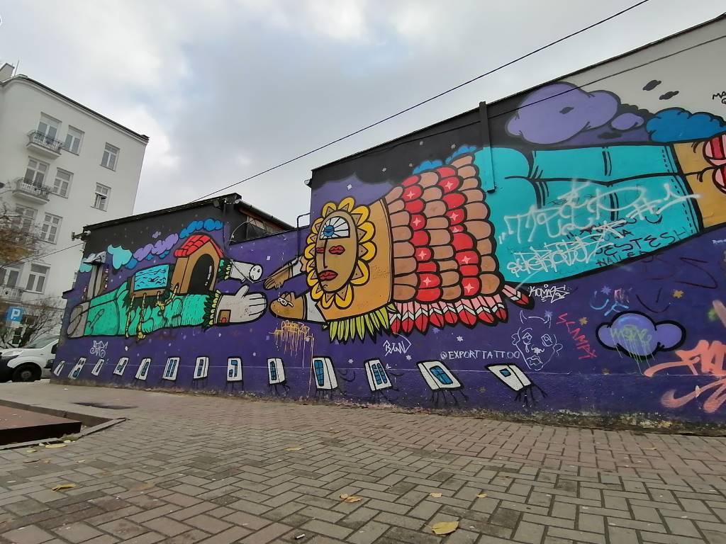 Huawei P Smart Pro - zdjęcie muralu obiektywem szerokokątnym