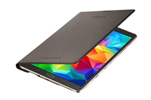 """Samsung Etui w formie """"book cover"""" tylko na przód / Simple cover do GALAXY Tab S 8.4 AMOLED / Klimt (T700/T705) - tytanowy brąz"""