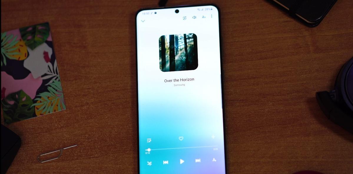 Galaxy S20 Ultra oferuje odtwarzacz muzyki do pobrania z Galaxy Store