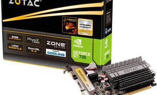 Zotac GeForce GT 730 ZONE Edition Low Profile 2GB DDR3 (64 bit) HDMI, DVI, D-Sub (ZT-71113-20L)