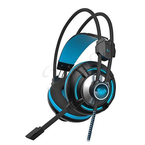 wokółuszne AULA Spirit Wheel (czarno - niebieski)