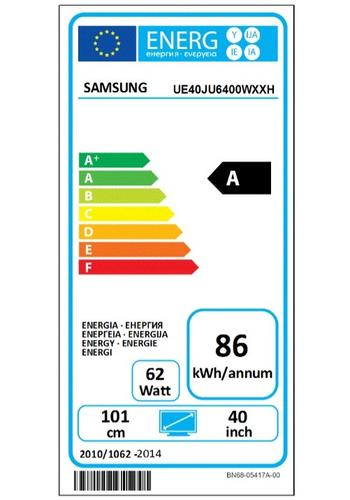 Samsung 40'' TV Slim LED Ultra HD UE40JU6400WXXH