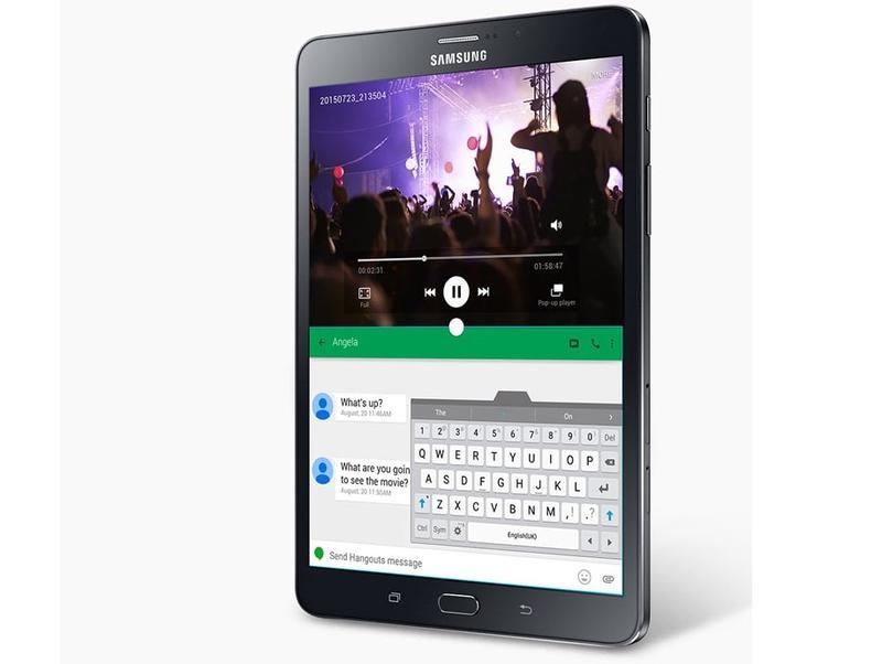 Galaxy Tab S2 obsługuje wiele okien