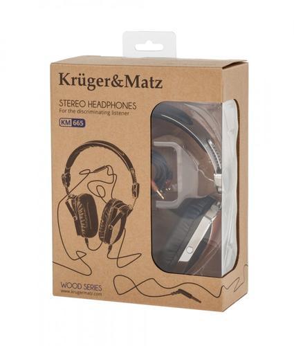 Kruger & Matz Słuchawki stereo drewno KM0665SP