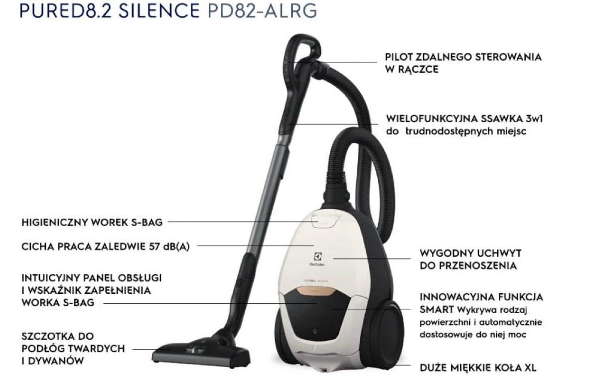 Opisy odkurzacza  Electrolux Silence PD82-ALRG