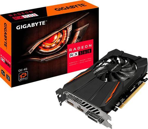 Gigabyte RX 560 OC 4GB GDDR5 (128 Bit), DVI-D, HDMI, DP, BOX