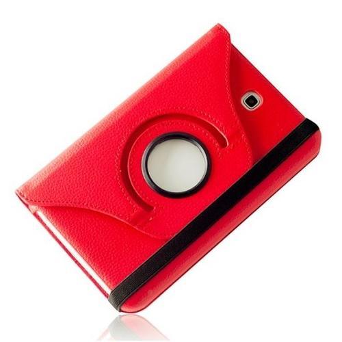 """WEL.COM Etui obrotowe 360° Galaxy Tab 3 7"""" T210/T211 czerwone"""