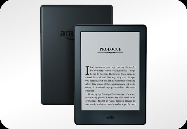 Kindle 8 i wyświetlany e-book