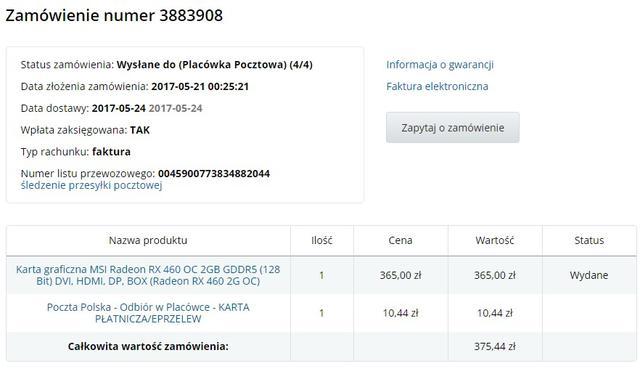 MSI RX 460 2 GB
