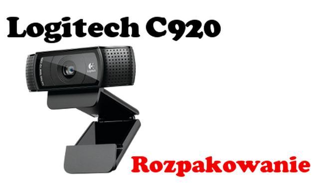 Logitech HD Pro Webcam C920 rozpakowanie topowej kamerki internetowej [UNBOXING]