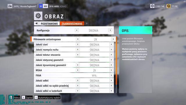 Asus Strix GTX 1050 Forza ustawienia 2