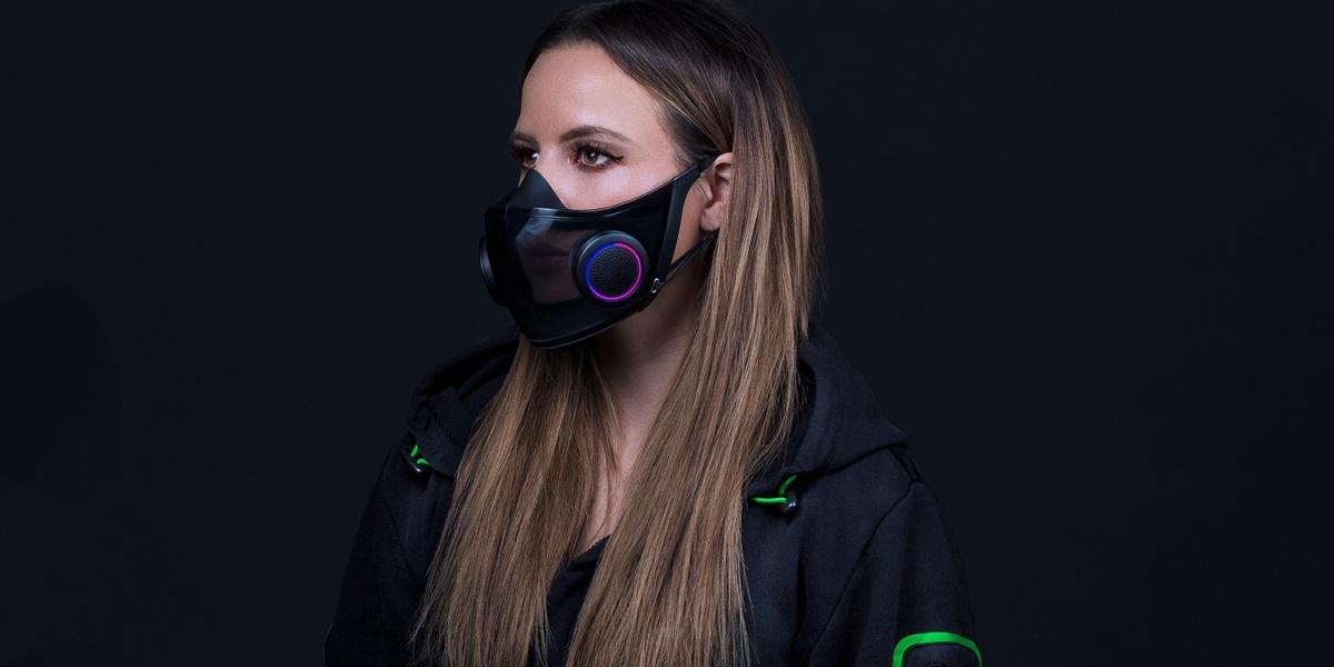 Project Hazel od Razera to maska z filtrami N95 i podświetleniem