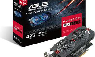 Asus Radeon RX 560 4GB GDDR5 (128 bit), DVI-D, HDMI, DisplayPort, BOX (RX560-4G)