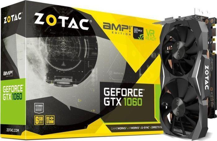 Zotac GeForce GTX 1060 AMP Edition, 6GB GDDR5X 192-bit