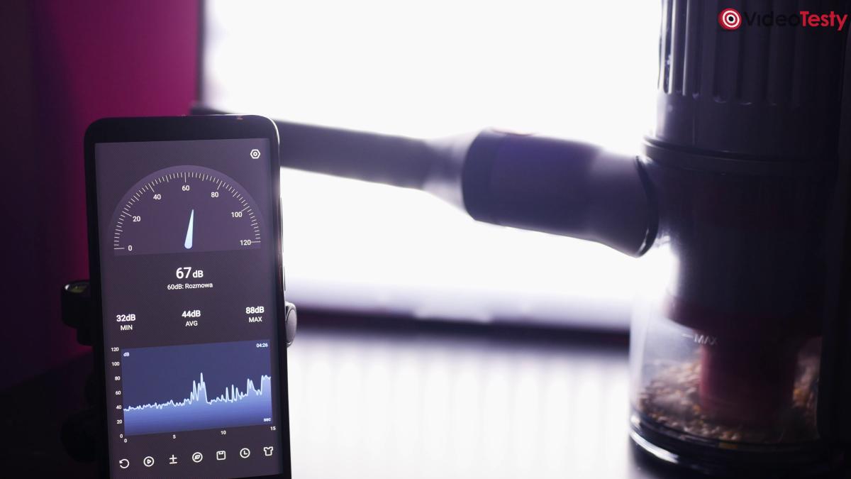 Roborock H7 na niskim poziomie głośności