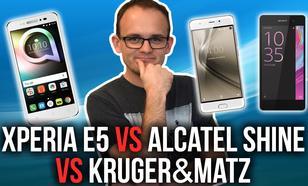Porównanie Alcatel Shine vs Sony Xperia E5 vs Kruger&Matz Live 4