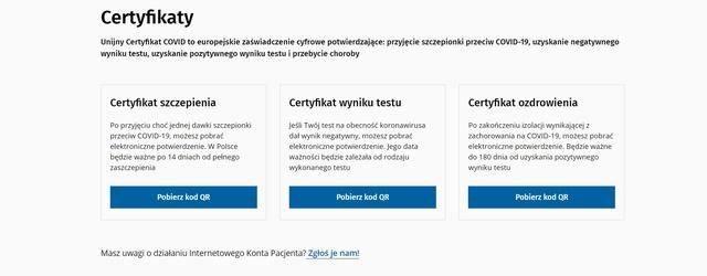 3 rodzaje certyfikatów w związku z COVID-19