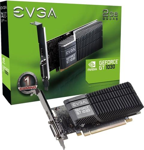 EVGA GT 1030 SC LP 2GB GDDR5 (64 bit), DVI-D, HDMI, BOX