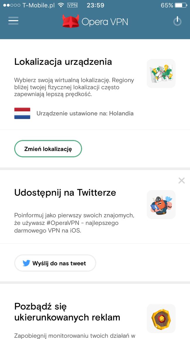 Opera VPN - Omijamy zabezpieczenia sieci
