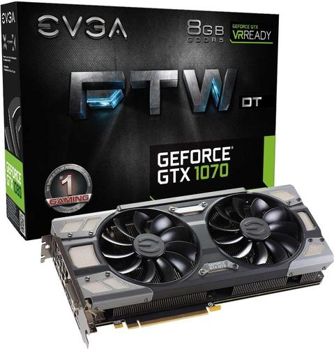 EVGA GeForce GTX 1070 FTW DT Gaming ACX3.0 8GB GDDR5 (256 Bit) DVI,
