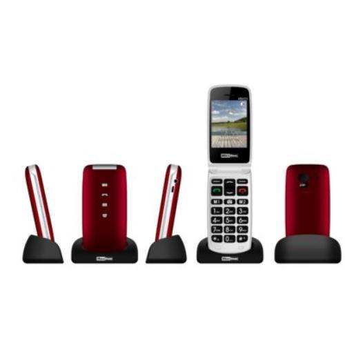 Maxcom MM823BB CZERWONY Poliphone/Big button