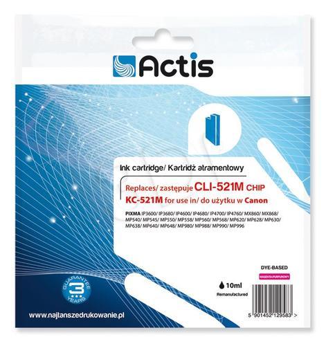 Actis KC-521M tusz magenta do drukarki Canon (zamiennik Canon CLI-521M) Supreme