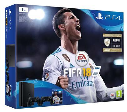 prezenty świąteczne do 1700 zł - SONY PlayStation 4 Slim 1TB + FIFA 18 + Kontroler DualShock 4