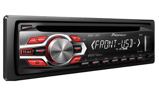 Pioneer DEH-1400UB - prezentacja popularnego radioodtwarzacza samochodowego
