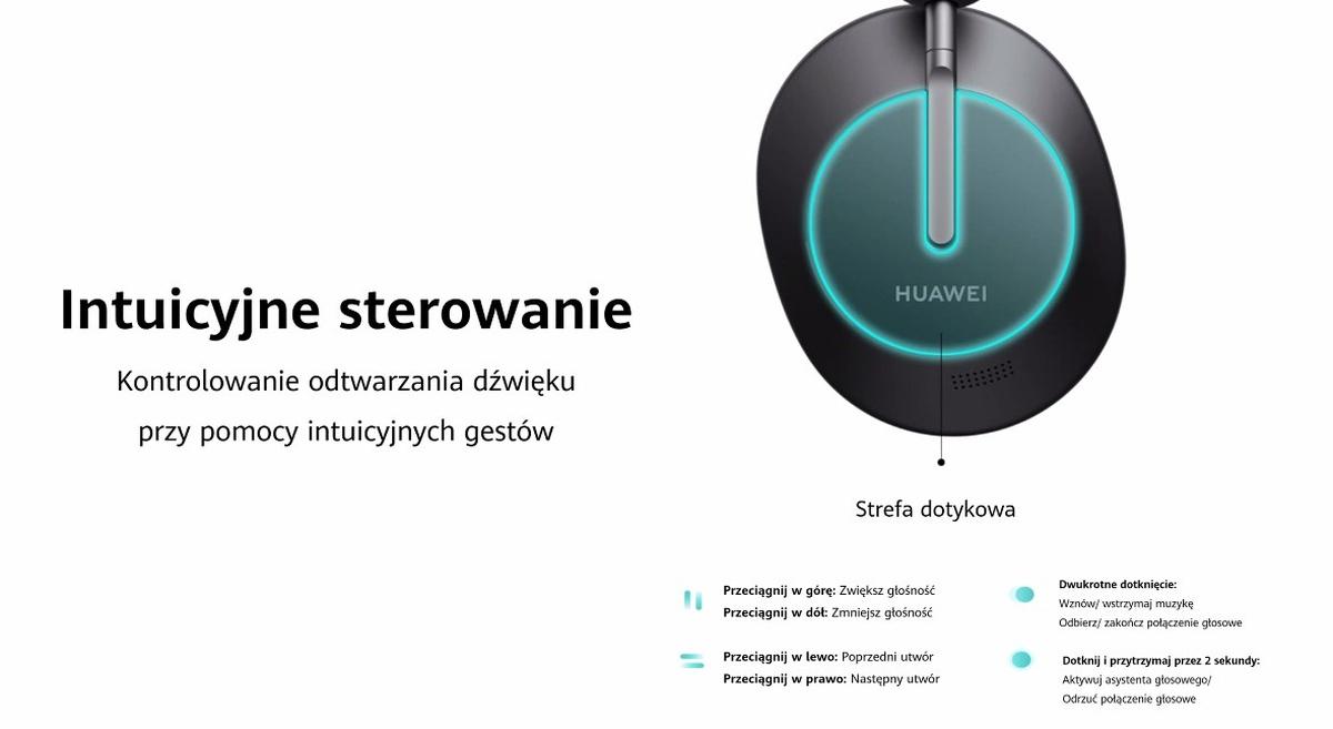 Huawei Freebuds Studio oferują dotykową nawigację