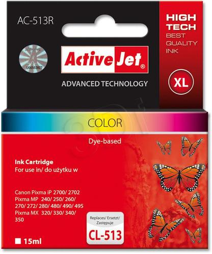 ActiveJet AC-513R tusz trójkolorowy do drukarki Canon (zamiennik Canon CL-513) Premium