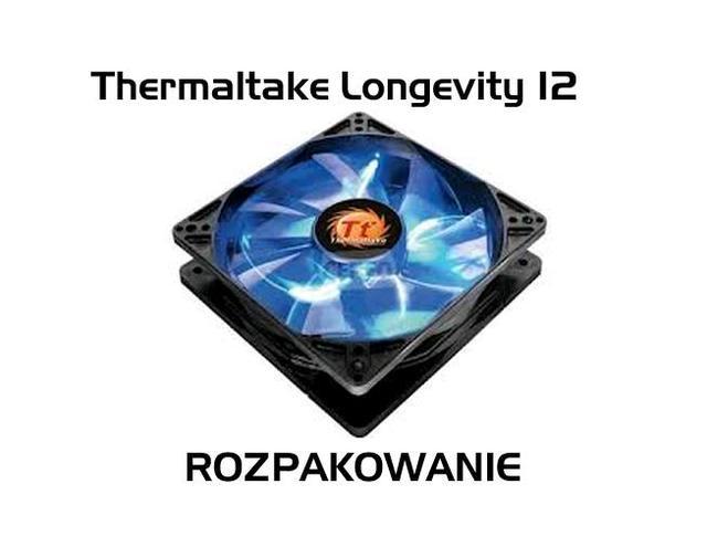Thermaltake Longevity 12 wentylator LED  [ROZPAKOWANIE]