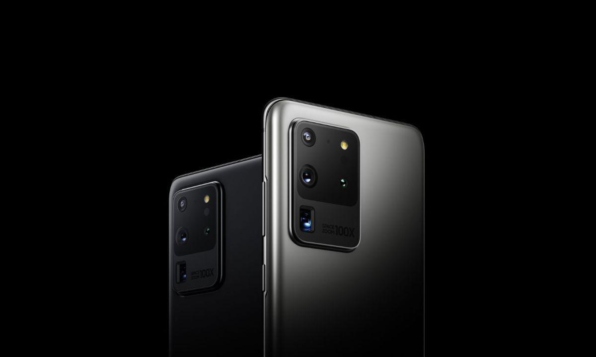 Grafika promująca smartfon Samsung Galaxy S20