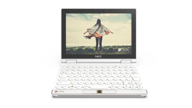 NEC Lavie Mini prezentuje się niczym miniaturowy laptop