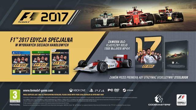 prezent na święta do 300 zł - gra PC F1 2017