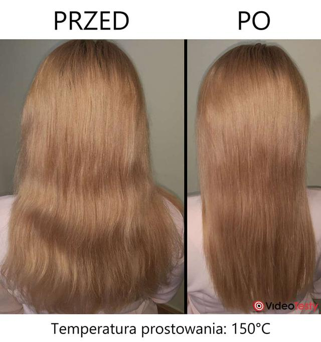 przed i po prostowaniu prostownicą philips