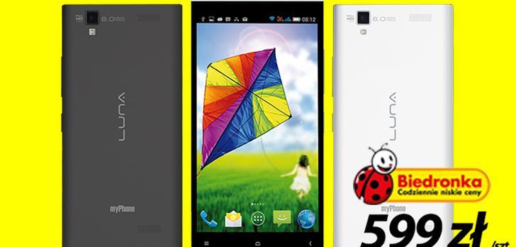 myPhone LUNA i Bezpłatny Internet - Rewelacyjna Promocja W Biedronce!