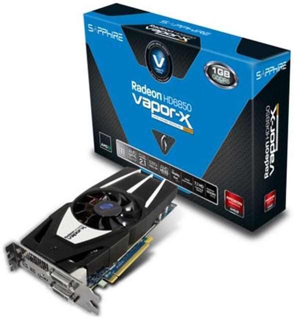 Sapphire Radeon HD6850 Vapor-X - wydajna karta graficzna z dobrym chłodzeniem