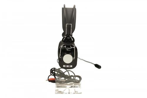 GEMBIRD Słuchawki z mikrofonem MHS-110 Czarne (z regulacją głośności)