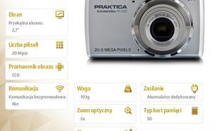 Praktica Luxmedia 20-Z50 srebrny