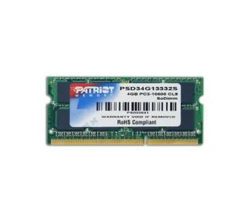 Patriot PSD34G13332S DDR3 4GB 1333 CL9
