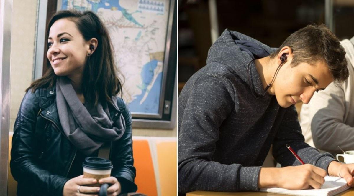 Creative Outlier Active i ludzie korzystający ze słuchawek