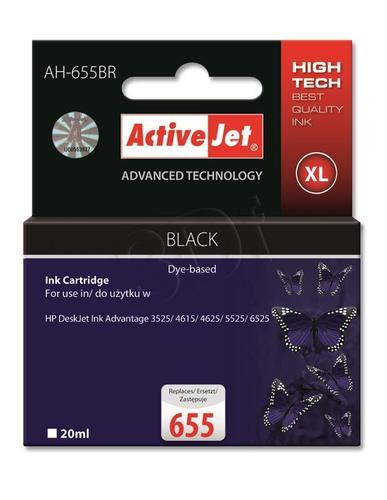 ActiveJet AH-655BR tusz czarny do drukarki HP (zamiennik HP 655 CZ109AE) Premium
